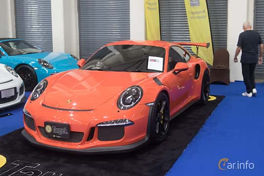 Front/Side  of Porsche 911 GT3 RS 4.0 H6 PDK, 500ps, 2016 at Bangkok Motor Show 2019