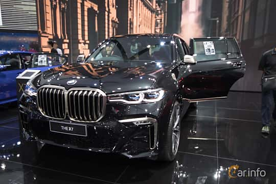 Front/Side  of BMW X7 M50d  Steptronic, 400ps, 2019 at Bangkok Motor Show 2019