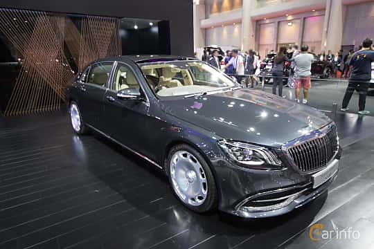 Front/Side  of Mercedes-Benz Maybach S 560  9G-Tronic, 469ps, 2019 at Bangkok Motor Show 2019