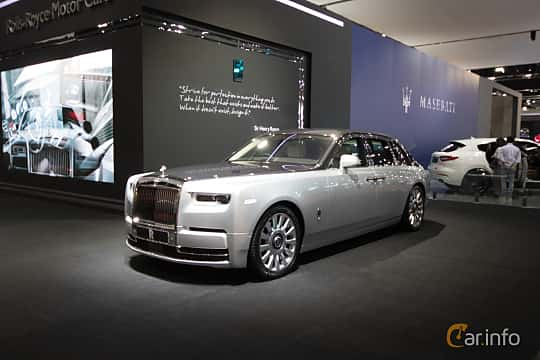 Front/Side  of Rolls-Royce Phantom 6.7 V12 Automatic, 571ps, 2019 at Bangkok Motor Show 2019