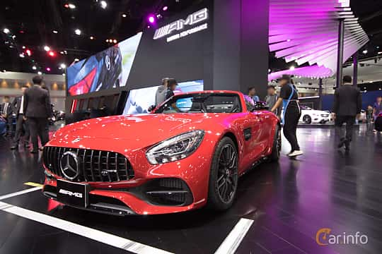 Front/Side  of Mercedes-Benz AMG GT Roadster  AMG Speedshift DCT, 476ps, 2019 at Bangkok Motor Show 2019