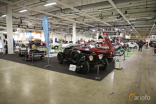 Front/Side  of Lagonda Rapier Sports Tourer 1.1 Preselector, 51ps, 1935 at Bilsport Performance & Custom Motor Show 2019
