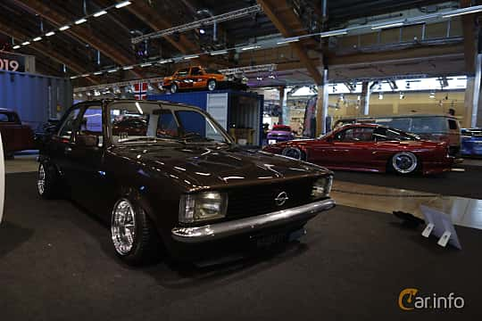 Front/Side  of Opel Kadett Coupé 1979 at Bilsport Performance & Custom Motor Show 2019