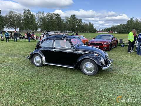 Front/Side  of Volkswagen 1200 1.2 Manual, 34ps, 1963 at Cageswamp Summer Meet Burträsk 2019