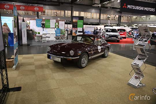 Front/Side  of Triumph GT6 2.0 Manual, 106ps, 1972 at eCar Expo Göteborg 2018