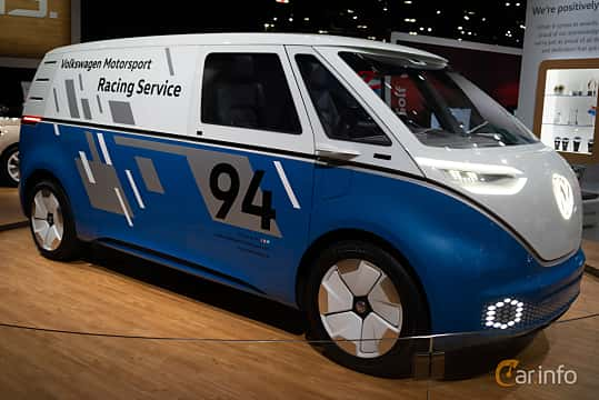 Front/Side  of Volkswagen I.D. Buzz Cargo 111 kWh Single Speed, 204ps, 2018 at LA Motor Show 2018