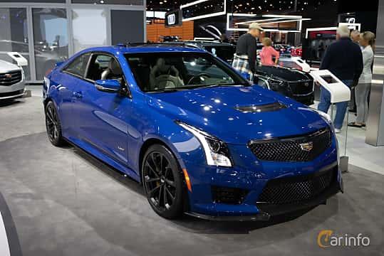 Front/Side  of Cadillac ATS-V Coupé 3.6 V6 470ps, 2019 at LA Motor Show 2018