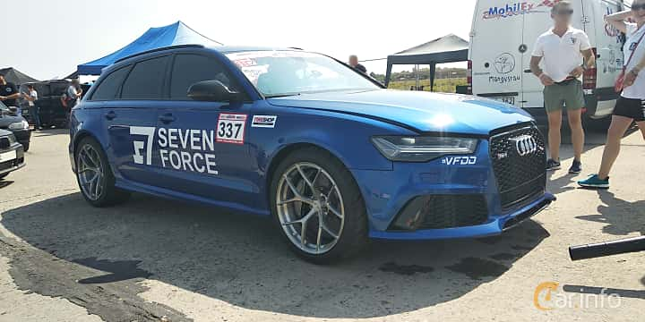 Front/Side  of Audi RS 6 Avant 4.0 TFSI V8 quattro TipTronic, 560ps, 2015 at Proudrs Drag racing Poltava 2019