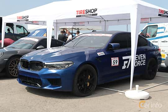 Front/Side  of BMW 5 Series Sedan 2017 at Proudrs Drag racing Poltava 2019