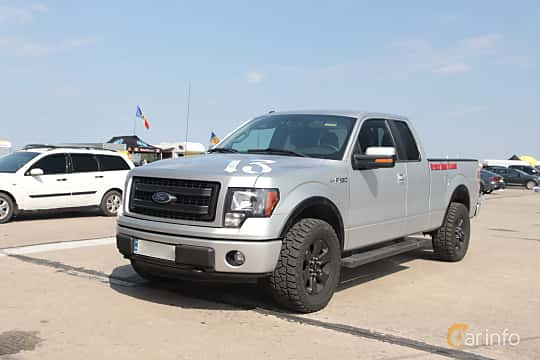 Front/Side  of Ford F-150 SuperCab 5.0 V8 Ti-VCT FFV Automatic, 364ps, 2014 at Proudrs Drag racing Poltava 2019