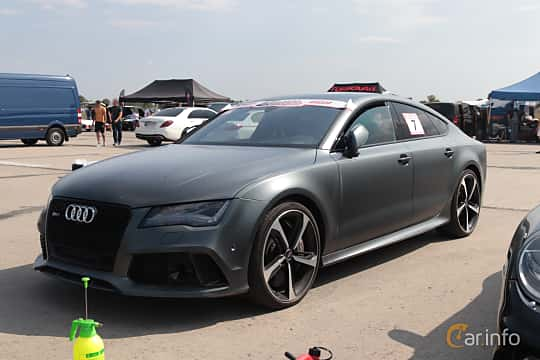 Front/Side  of Audi RS 7 Sportback 4.0 TFSI V8 quattro TipTronic, 560ps, 2014 at Proudrs Drag racing Poltava 2019