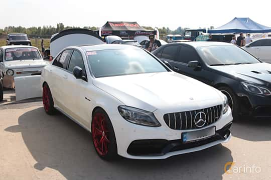 Front/Side  of Mercedes-Benz AMG C 63  , 476ps, 2019 at Proudrs Drag racing Poltava 2019