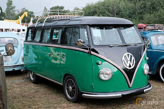 Front/Side  of Volkswagen Transporter Minibus 1963 at West Coast Bug Meet 2019