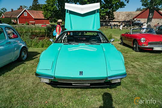 Front  of De Tomaso Pantera 5.8 V8 Manual, 314ps, 1971 at Sportbilsklassiker Stockamöllan 2019