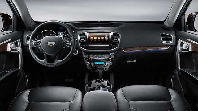 Interior of Geely GX9 2.4 Automatic, 162hp, 2016