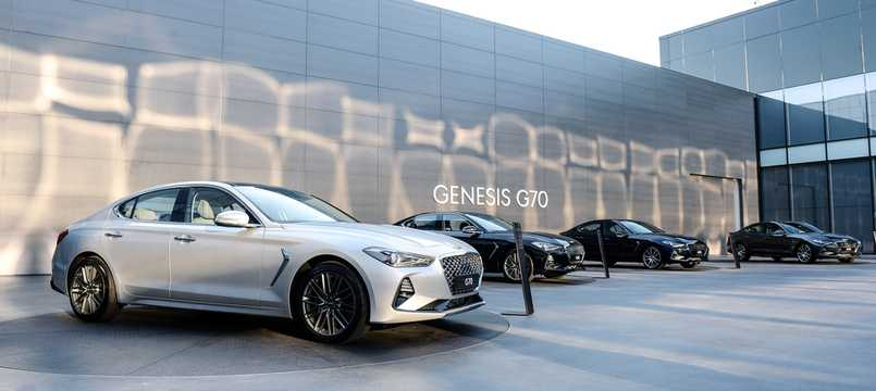 Front/Side  of Genesis G70 2018