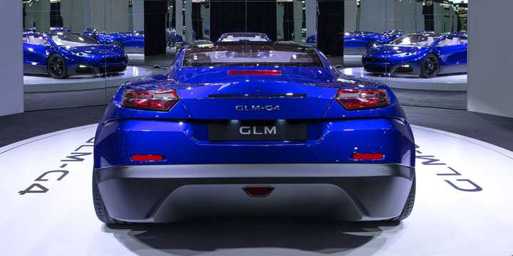 Back of GLM GLM-G4 Electric Concept, 539hp, 2016
