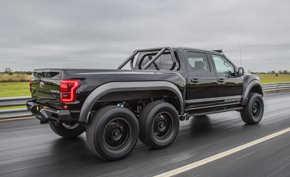 Back/Side of Hennessey VelociRaptor 6x6 3.5 V6 6x6 Automatic, 608hp, 2017
