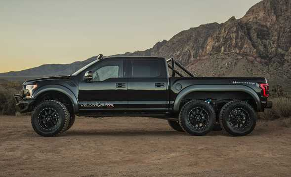 Side  of Hennessey VelociRaptor 6x6 3.5 V6 6x6 Automatic, 608hp, 2017