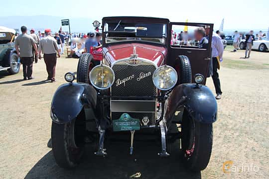 Front  of Hispano-Suiza T49 Limousine 3.7 Manual, 91ps, 1927 at Pebble Beach Concours d'Elegance 2015
