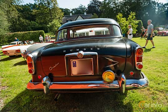 Back of Humber Super Snipe 3.0 Manual, 125ps, 1960 at Sportbilsklassiker Stockamöllan 2019