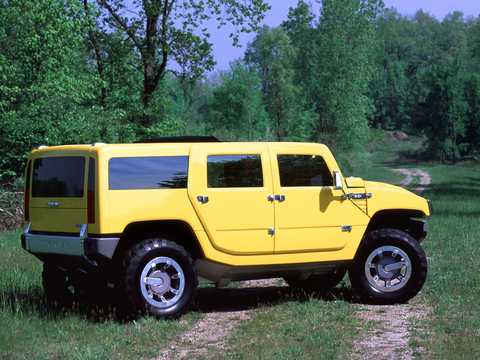 Back/Side of Hummer H2 SUV 6.0 V8 Automatic, 345hp, 2000