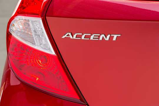Close-up of Hyundai Accent 1.6 GDI Automatic, 140hp, 2016
