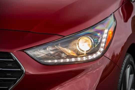Close-up of Hyundai Accent Sedan 1.6 GDI Automatic, 135hp, 2018