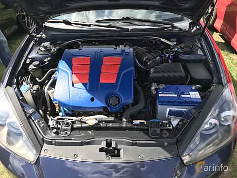 Engine compartment  of Hyundai Coupé 2007 at Old Car Land no.1 2018