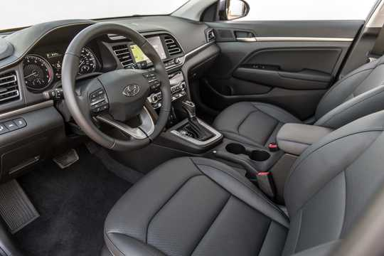 Interior of Hyundai Elantra Sedan 2019