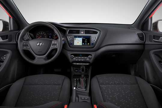 Interior of Hyundai i20 2018