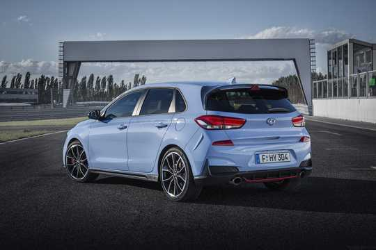 Back/Side of Hyundai i30 N 2.0 T-GDI Manual, 250hp, 2018