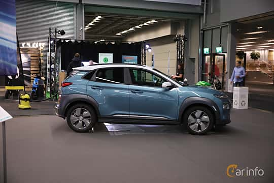 Side  of Hyundai Kona Electric 64 kWh Single Speed, 204ps, 2019 at eCar Expo Göteborg 2018