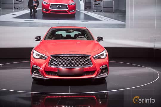 Front  of Infiniti Q50S 3.0 V6 Automatic, 405ps, 2017 at Geneva Motor Show 2017