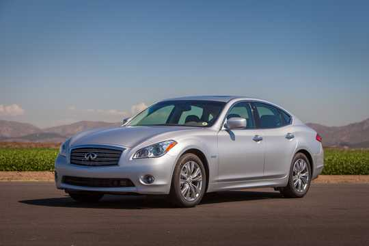 Front/Side  of Infiniti Q70 3.5 V6 Automatic, 364hp, 2014
