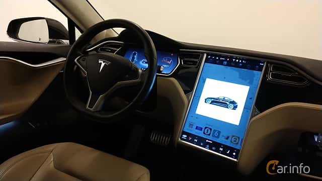 Interior of Tesla Model S P85D 85 kWh AWD Single Speed, 511ps, 2015