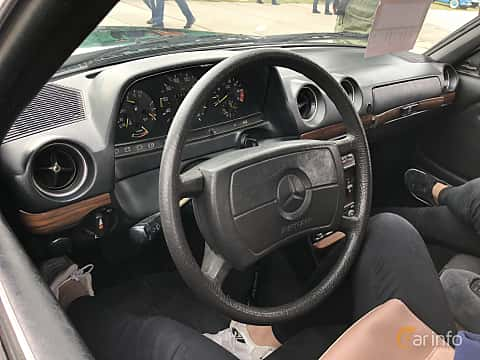 Interior of Mercedes-Benz 230 CE  136ps, 1980 at Old Car Land no.2 2019