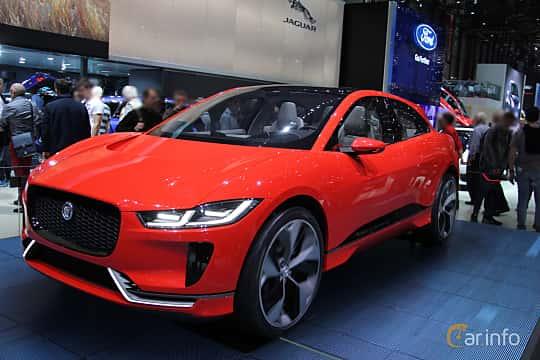 Fram/Sida av Jaguar I-Pace 90 kWh AWD Single Speed, 400ps, 2016