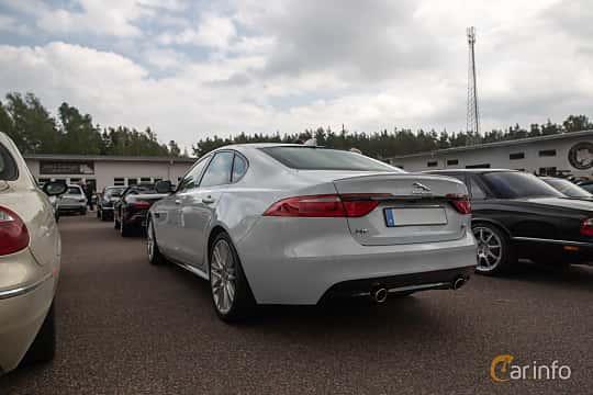Back/Side of Jaguar XF S  Automatic, 380ps, 2016 at Joe's garage 2019´s stora Jaugurevent