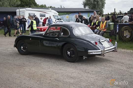 Back/Side of Jaguar XK150 3.4 Manual, 213ps, 1957 at Tisdagsträffarna Vikingatider v.25 / 2017