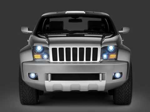 Front  of Jeep Trailhawk 3.0 V6 4WD Concept, 218hp, 2007