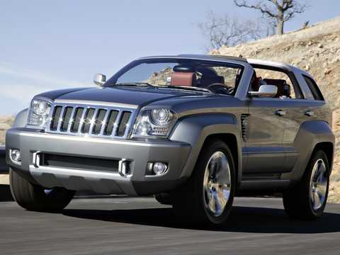 Front/Side  of Jeep Trailhawk 3.0 V6 4WD Concept, 218hp, 2007