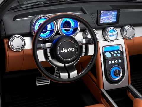 Interior of Jeep Trailhawk 3.0 V6 4WD Concept, 218hp, 2007