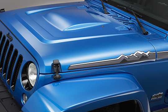 Close-up of Jeep Wrangler Unlimited 2016