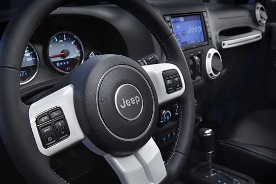 Interior of Jeep Wrangler Unlimited 2016
