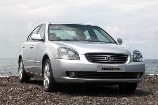 Front/Side  of Kia Magentis 2.7 V6 188hp, 2006