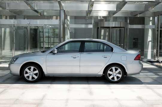 Side  of Kia Magentis 2.7 V6 188hp, 2006