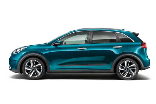 Side  of Kia Niro Hybrid 1.6 GDi DCT, 141hp, 2017