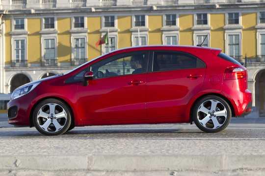 Side  of Kia Rio 5-door 2012