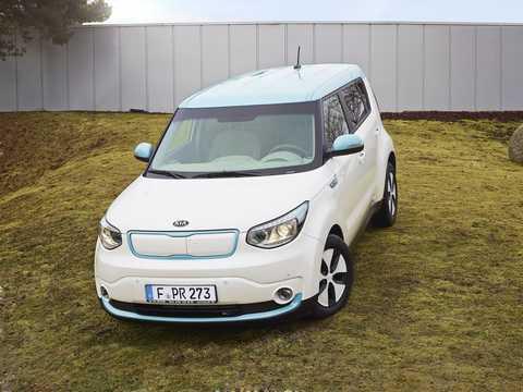 Front/Side  of Kia Soul EV 27 kWh Single Speed, 110hp, 2015